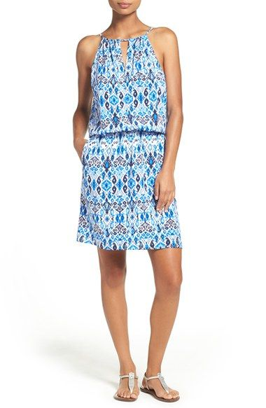 Free shipping and returns on Tommy Bahama Ikat Print Cover-Up at Nordstrom.com. A vivid ikat print enlivens a breezy sleeveless cover-up dress styled with a high drawcord neckline and stretchy elastic waist.