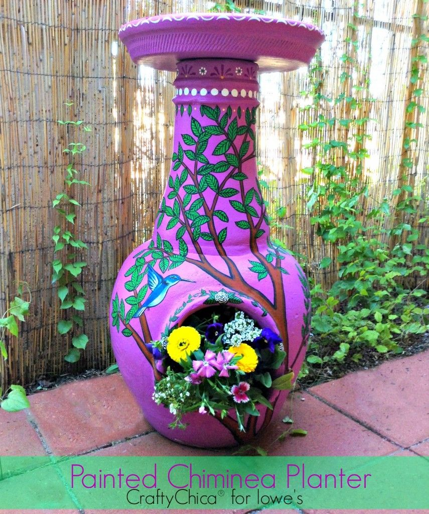 painted chiminea planter chiminea planters and gardens