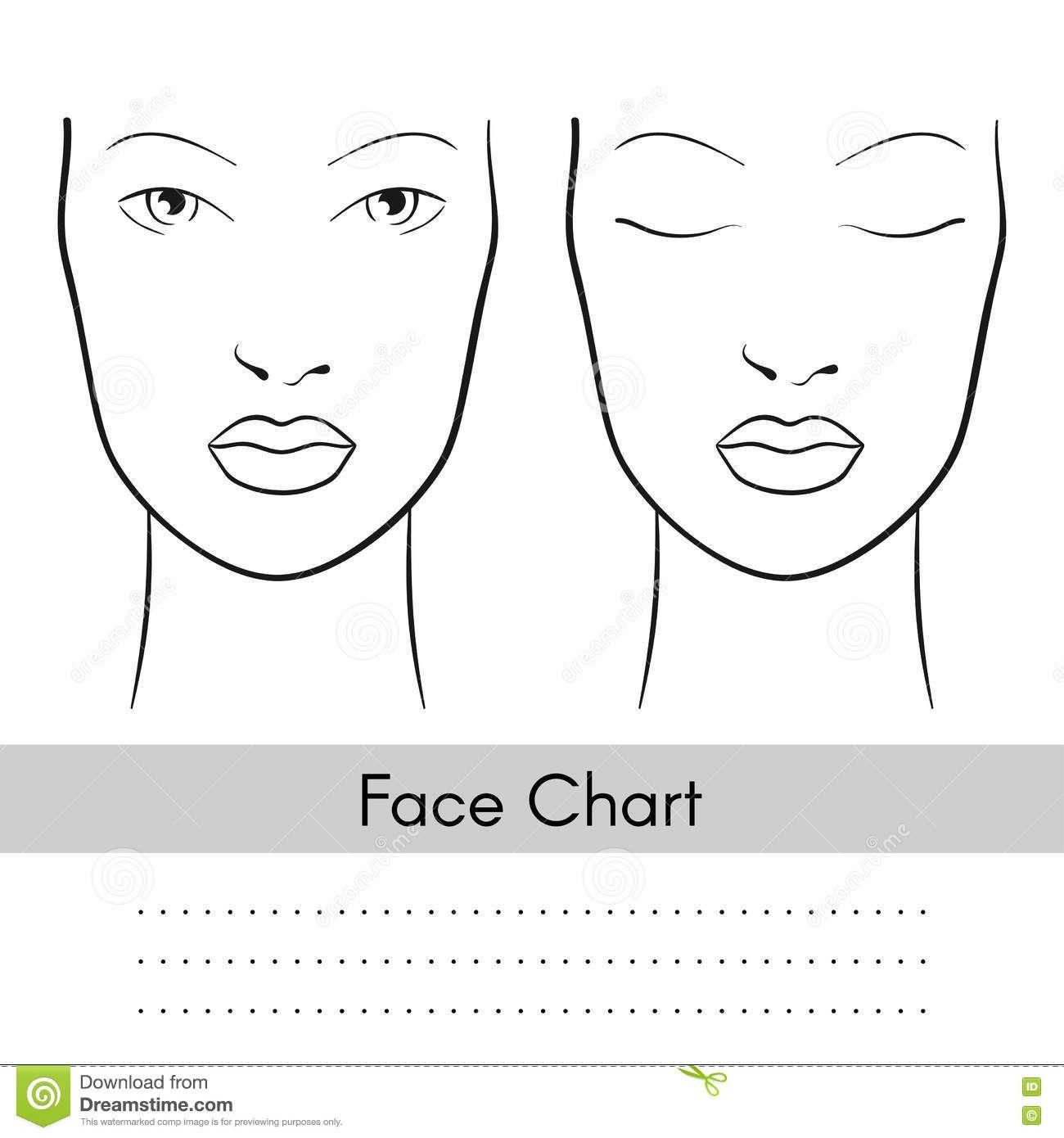Printable Face Charts For Makeup - Makeup Vidalondon ...