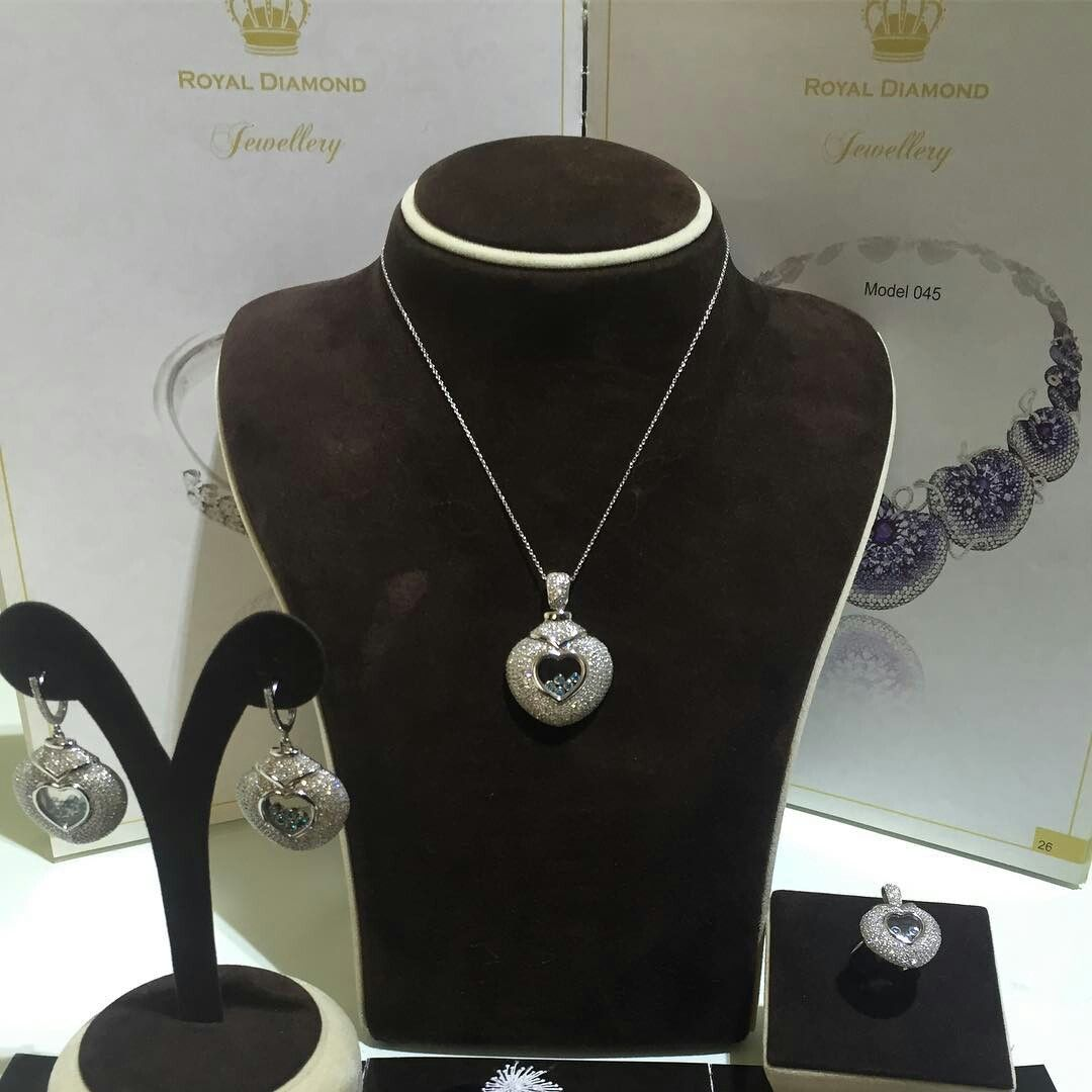 Chopard ring earrings and pendant set royal diamond jewellery