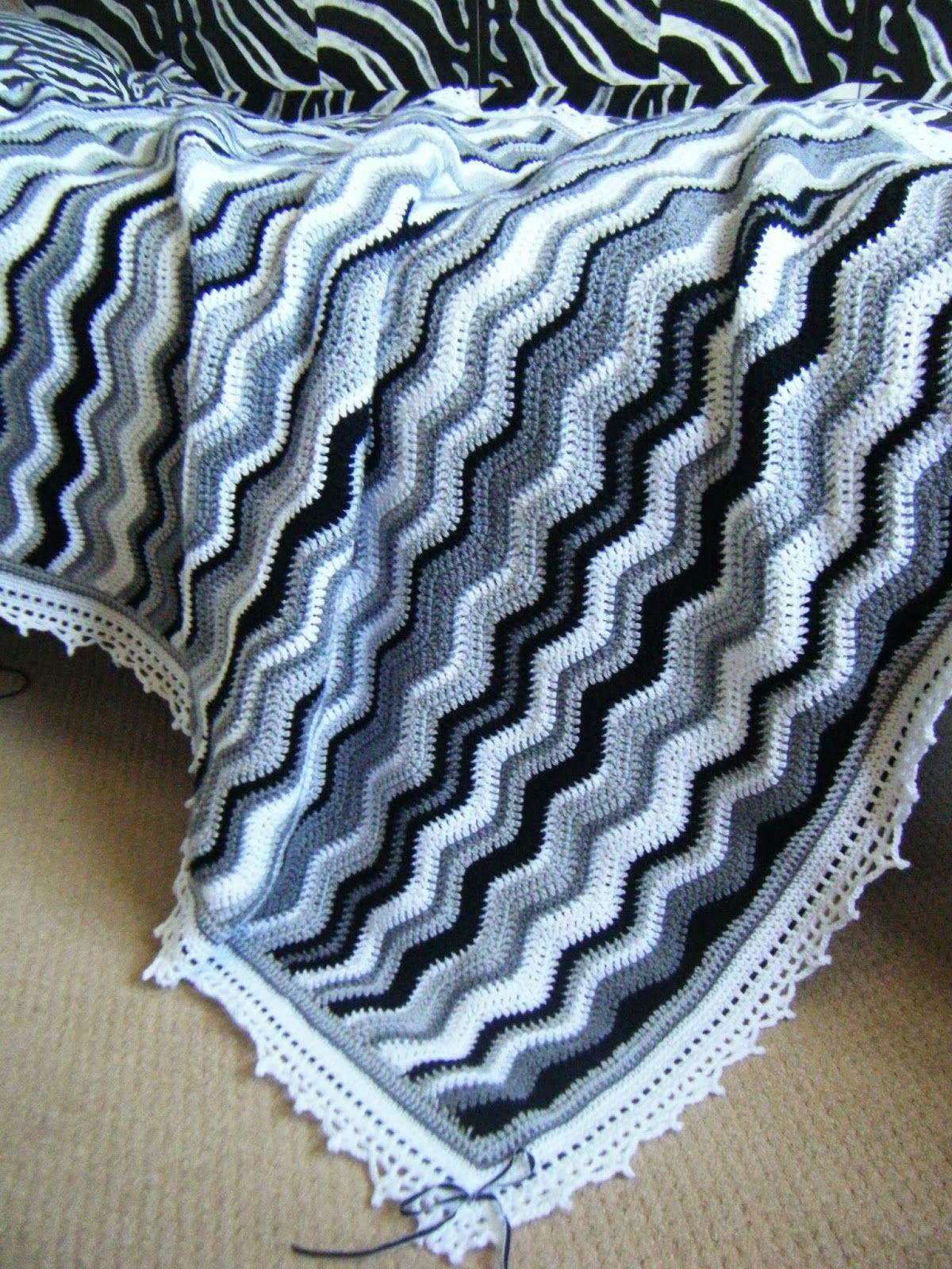 Zebra Blanket With Images Crochet Ripple Blanket Crochet Throw Blanket Baby Blanket Crochet
