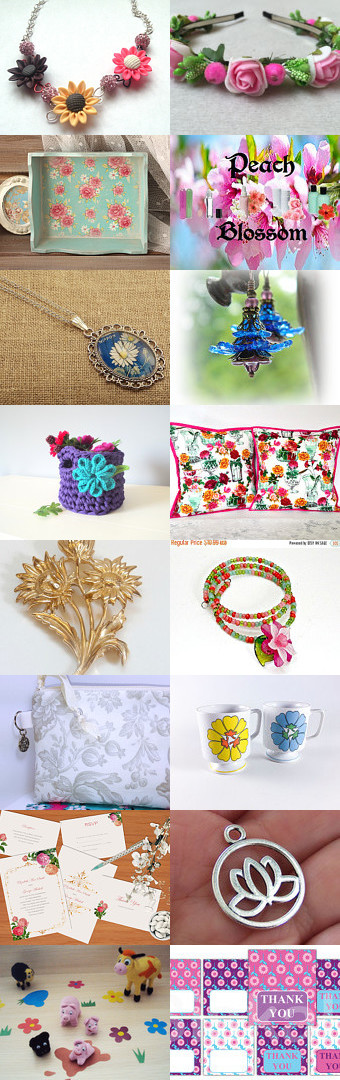 Flowers In the Spring by Chandra on Etsy--Pinned+with+TreasuryPin.com