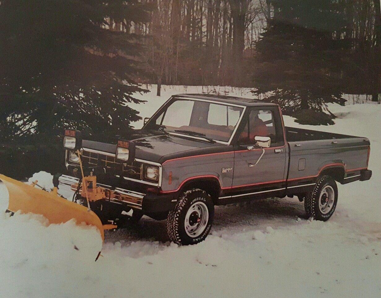 1984 Ford Ranger Xlt With Snowplow Option Trucks Ford Trucks