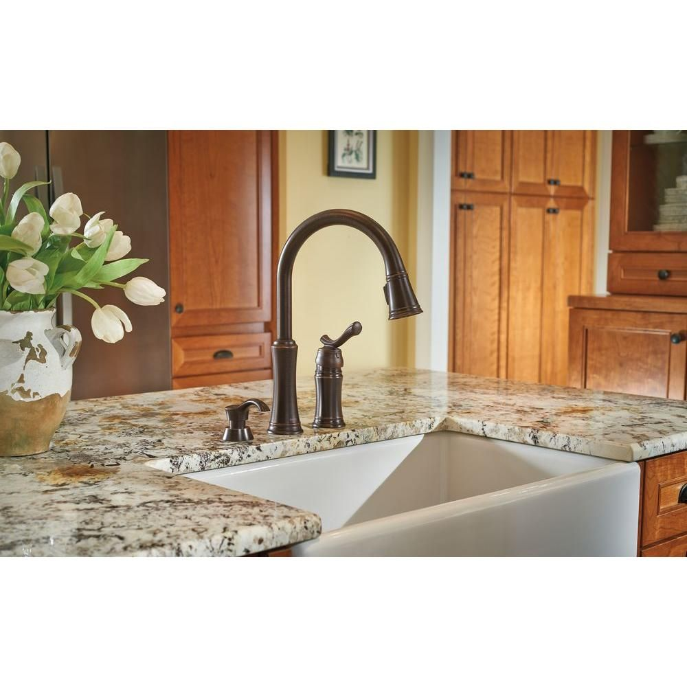 Venetian Bronze Kitchen Faucet Delta Lakeview Single Handle Pull Down Sprayer Kitchen Faucet With