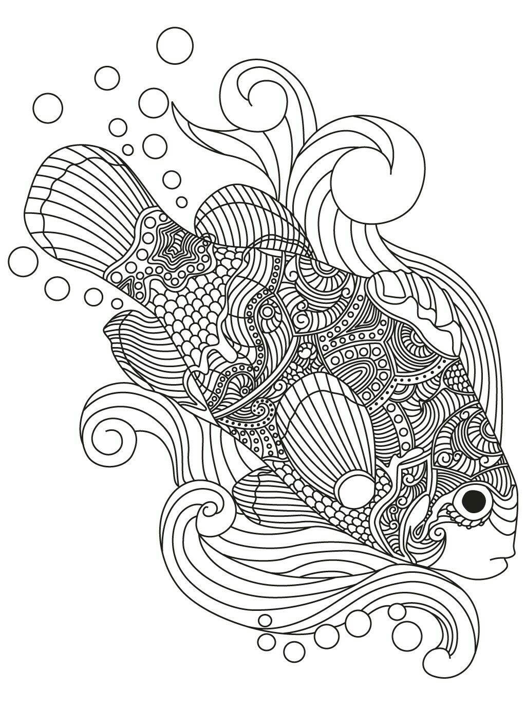 Epingle Par Marischka Korepina Sur Coloring Pages Coloriage Poisson Coloriage Dessin Poisson