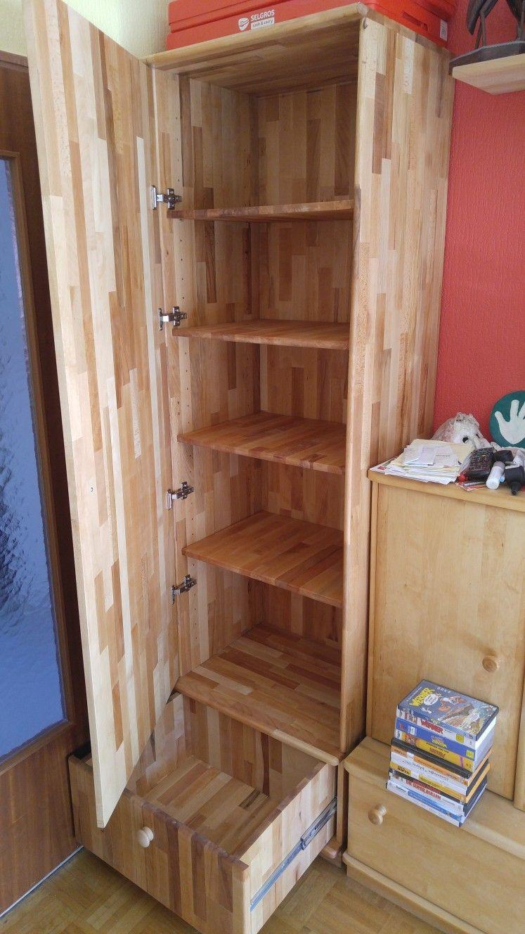 Ein Massivholz Schrank Gebaut Aus Leimholz Buche 210cm Hoch Und 60cm Breit Und 60cm Tief Storage Furniture Furniture Bookcase