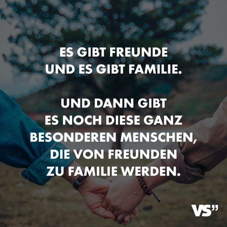 Visual Statements® Es gibt Freunde und es gibt Familie