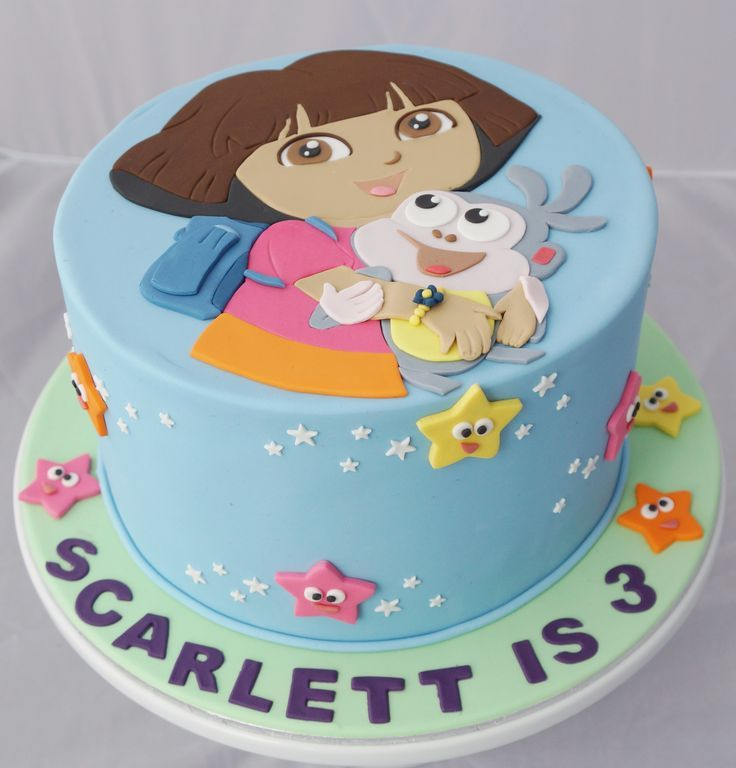 Dora cake queques Pinterest Dora cake Cake and Birthday cakes