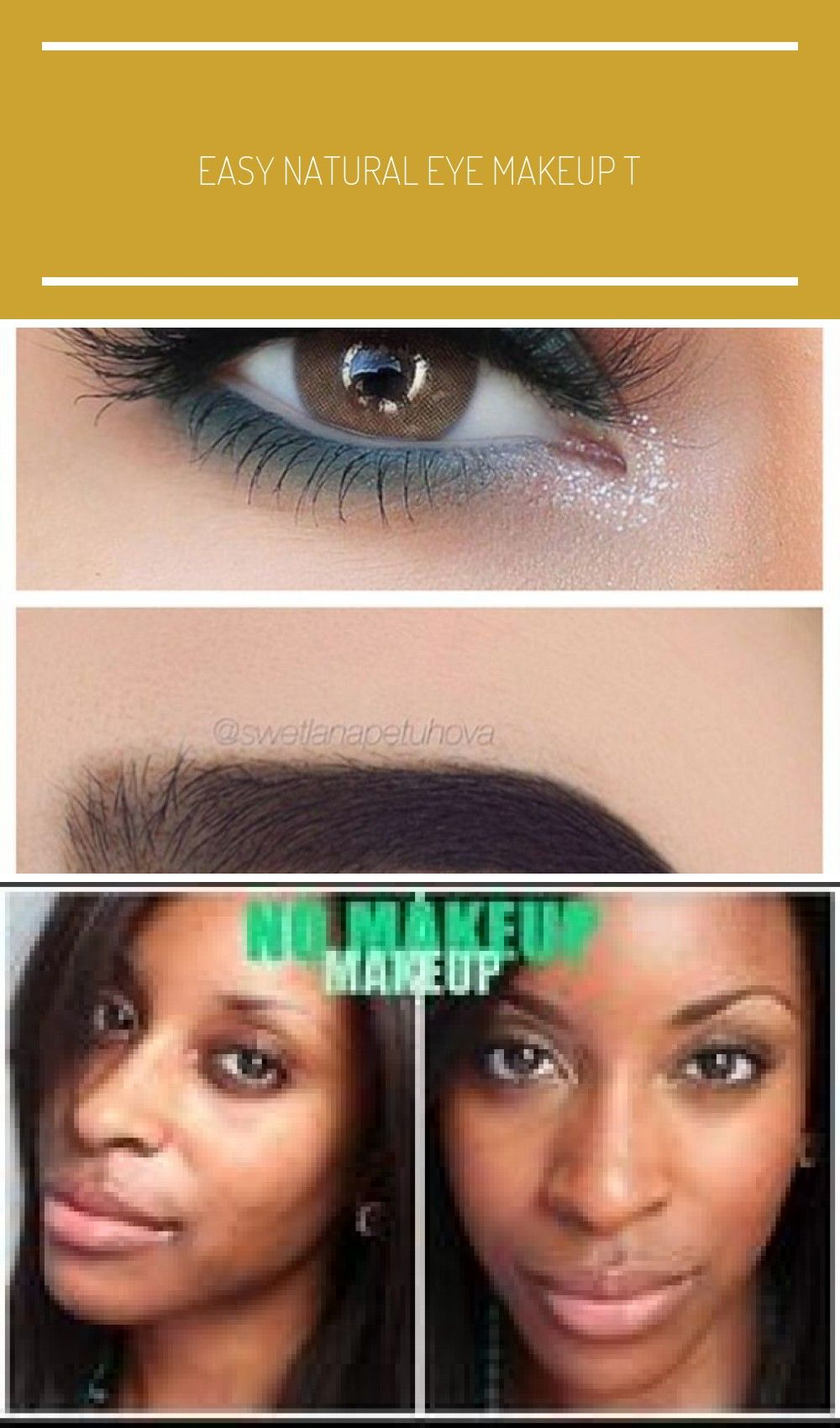 Easy Natural eye makeup tutorial step by step everyday
