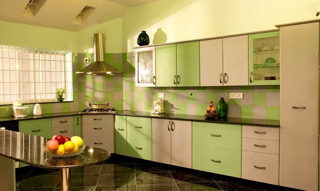 U shaped modular kitchen designer in indore call indore for Kitchen wardrobe design