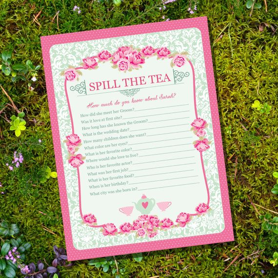 high tea party game spill the tea party game instantly downloadable and editable file personalize and print at home with adobe reader