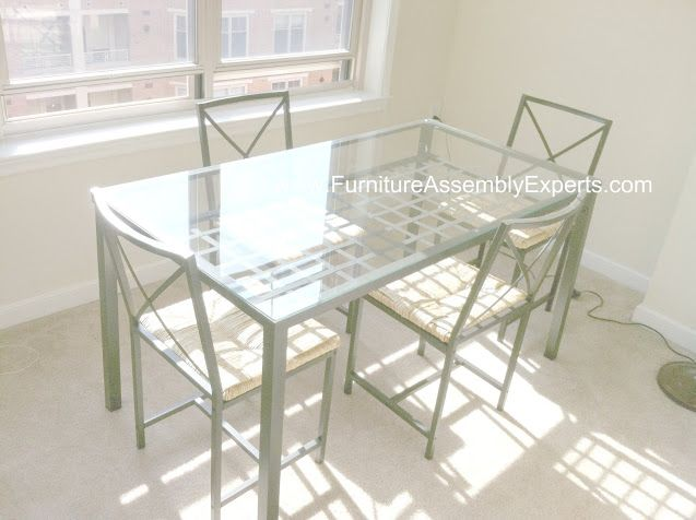 Ikea Granas Dining Table 4 Chairs Embled In Georgetown Washington Dc Gwu By Furniture Embly Experts Company