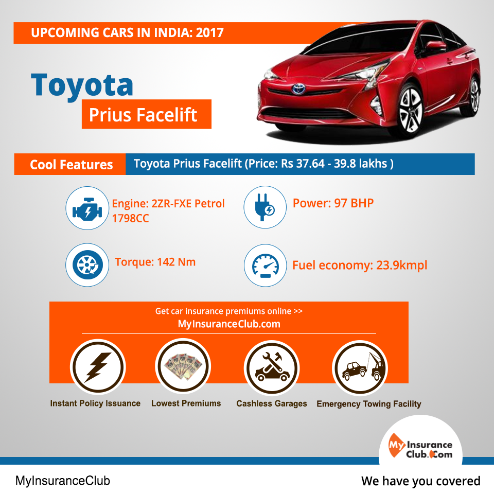Toyota prius facelift is the upcoming car in india jan 2017 price will range