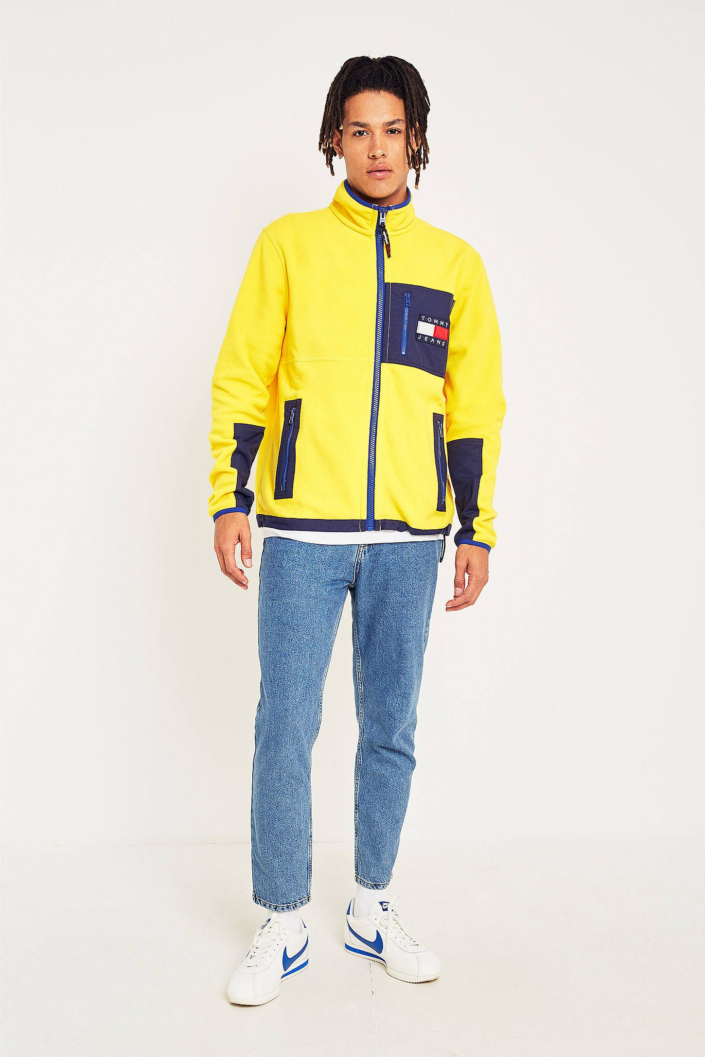 3a9e26642 Shop Tommy Jeans '90s Freesia Fleece Jacket at Urban Outfitters today. We  carry all the latest styles, colours and brands for you to choose from  right here.