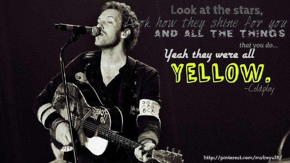 Yellow #colplay #lyrics