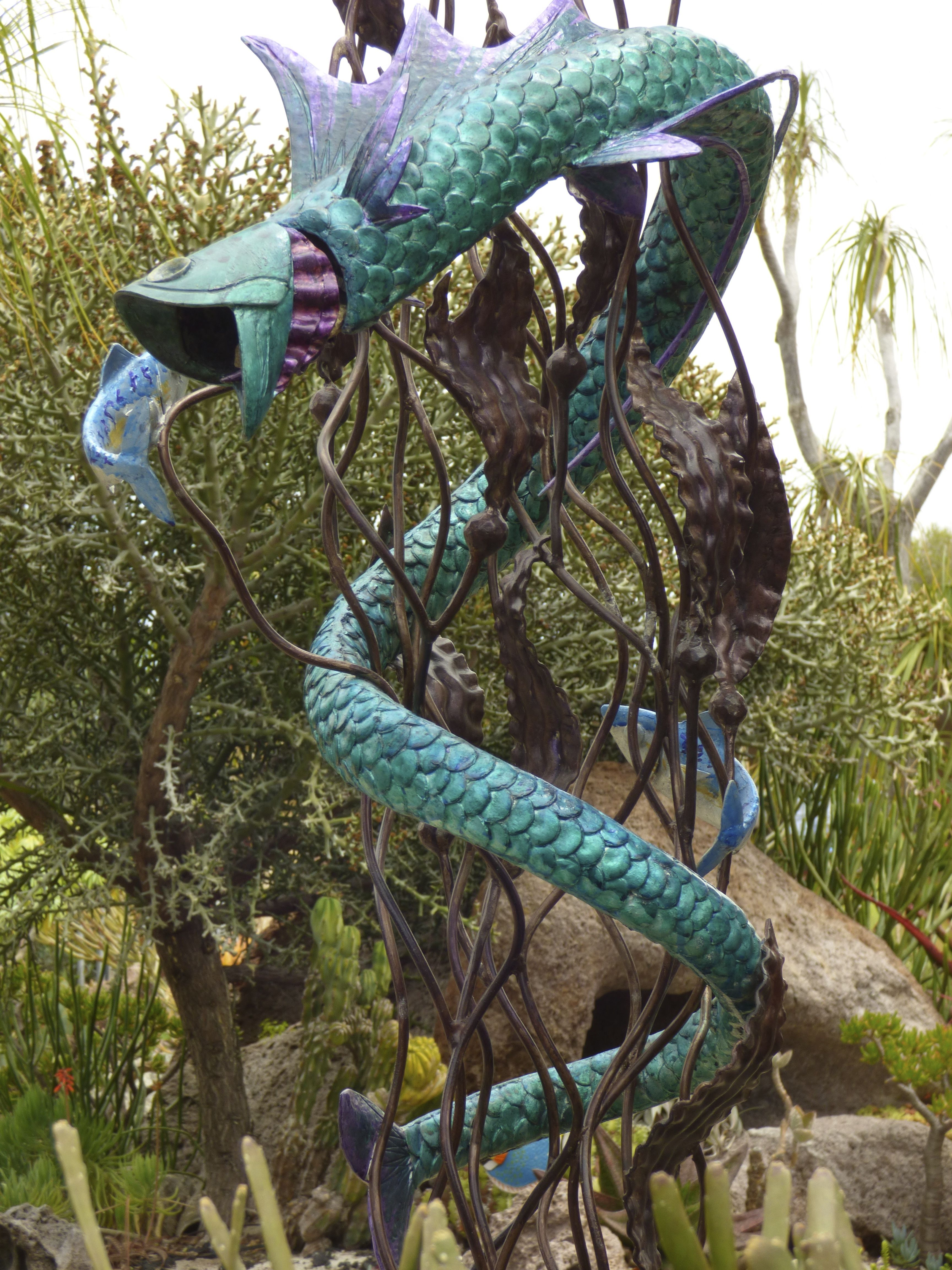 sea serpent in the undersea garden san go botanic garden