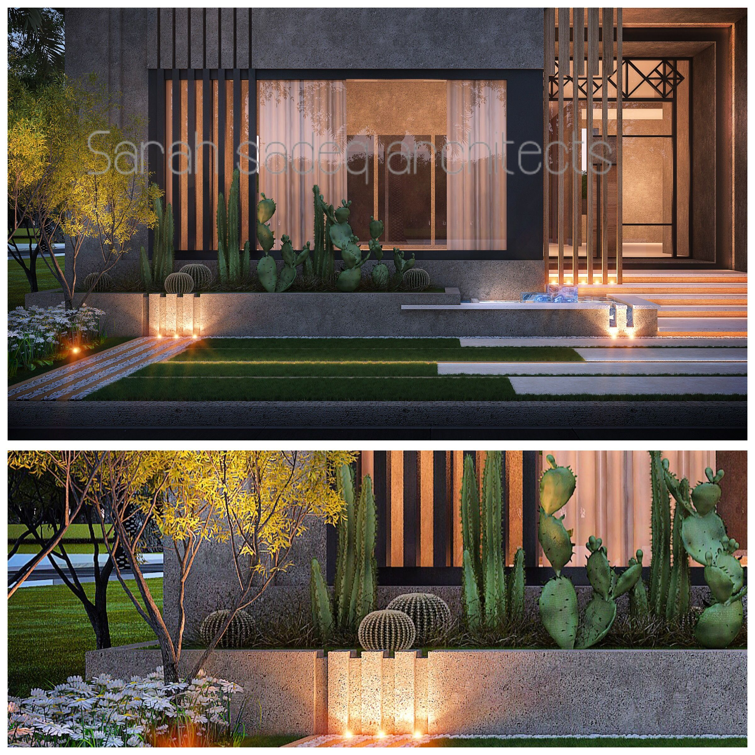 400 m private villa kuwait landscaping sarah sadeq for Garden design kuwait