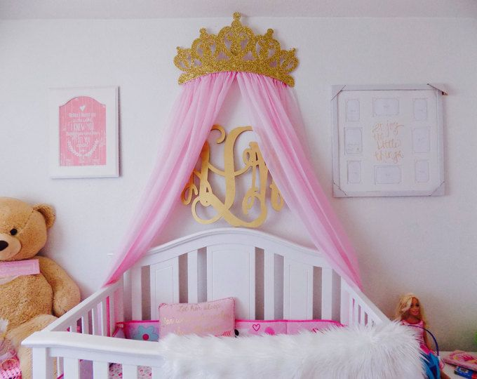 Metal Crown Wall Decor crib canopy, bed crown pink princess wall decor | canopy, wall
