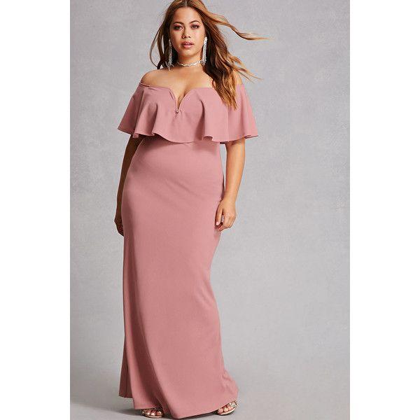 44+ Plus size off the shoulder maxi dress ideas ideas in 2021