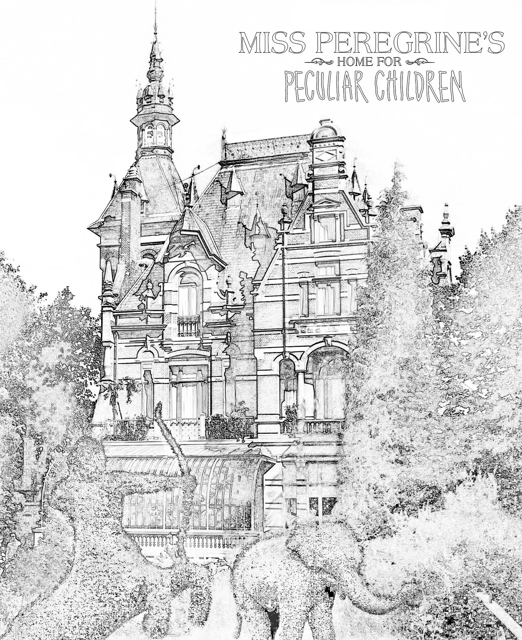 Free Download Coloring Pages Inspired By Miss Peregrine S Home