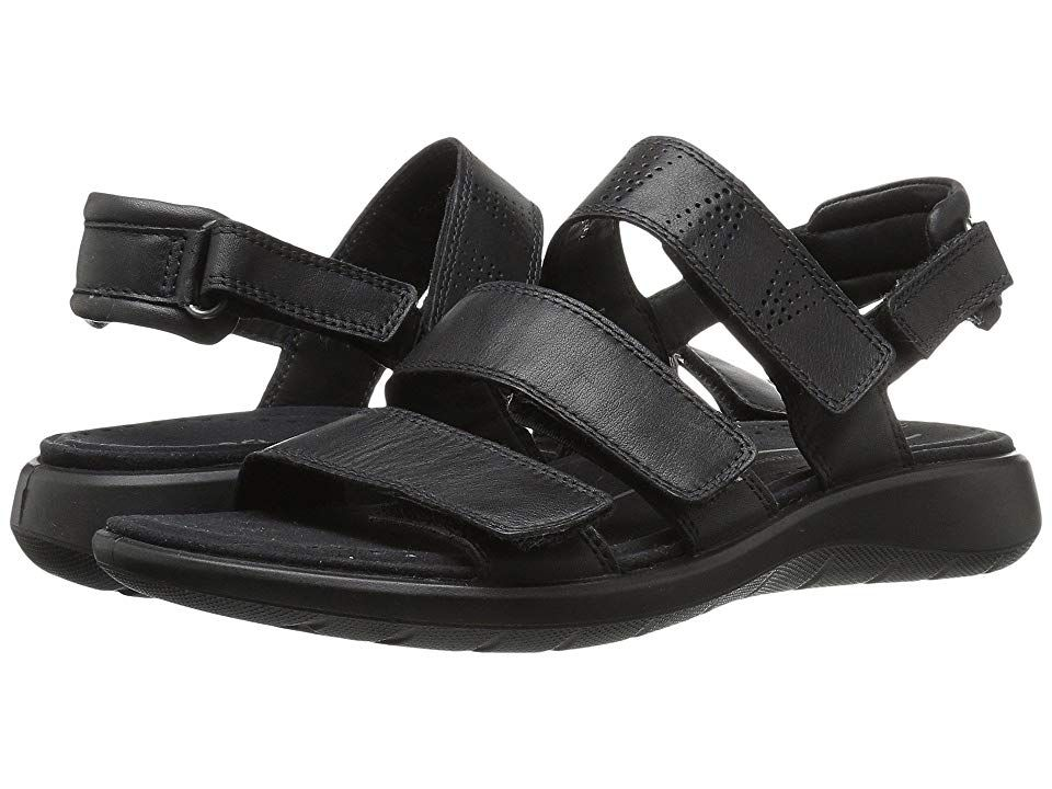 28b438c56d59 ECCO Soft 5 3-Strap Sandal (Black Cow Leather Cow Nubuck) Women s Sandals.  Comfort and style come together so effortlessly in the Soft 5 3-Strap Sandal  by ...