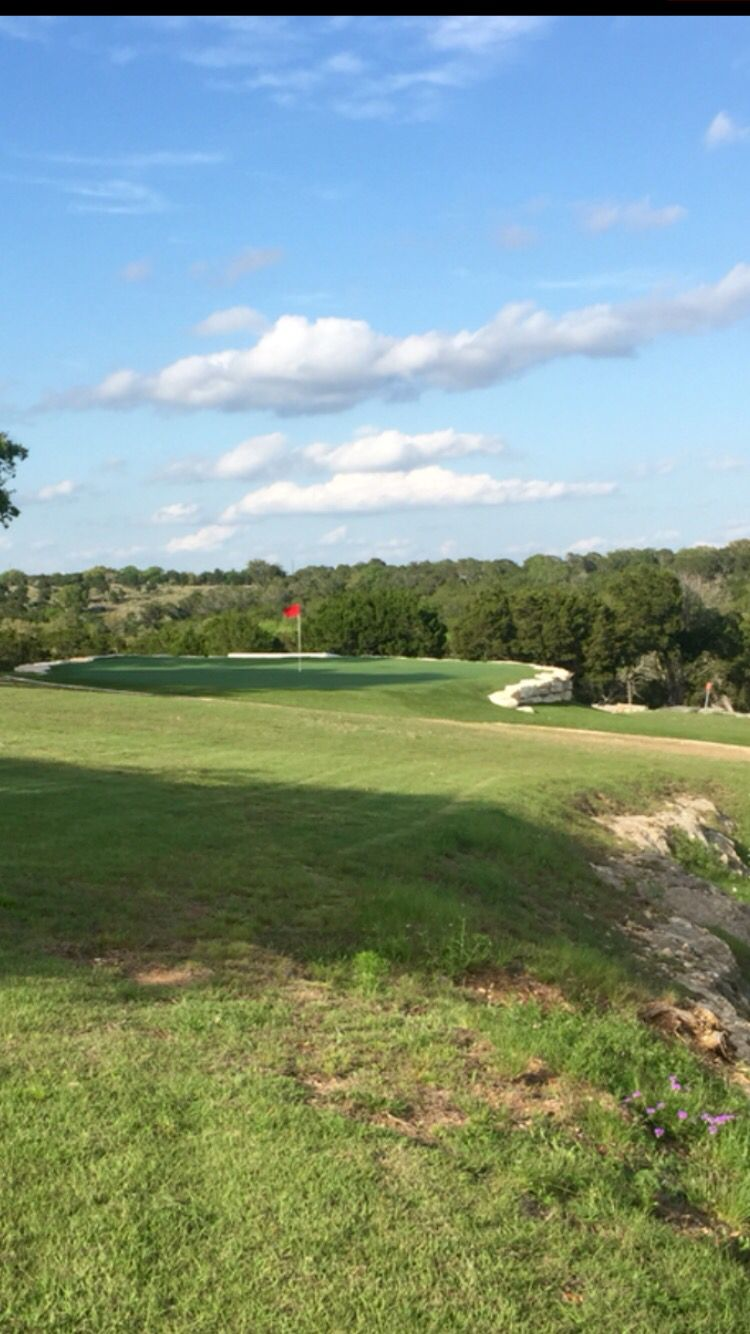 Sharpen your short game on this Hunt, Tx putting green by