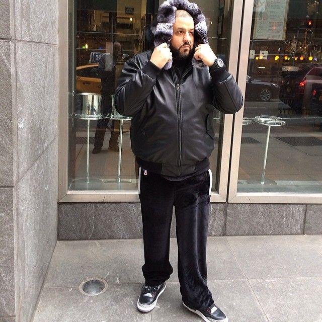 275bae2ce22 DJ Khaled wearing Air Jordan 3 III Retro Black Cement   Celebrity ...