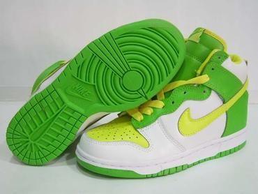 lime green nike dunks