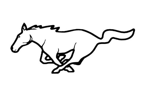 ford mustang clipart - google search | cameo | mustang ...  mustang logo drawings
