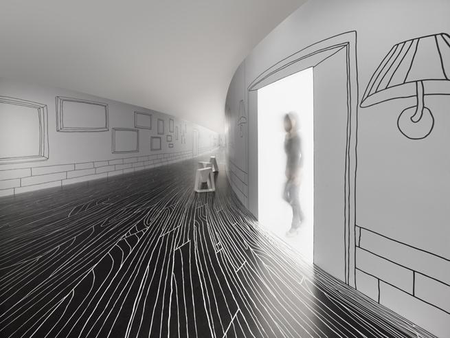 Thin Black Lines Dancing Squares Line Art Design Design Magazine Design