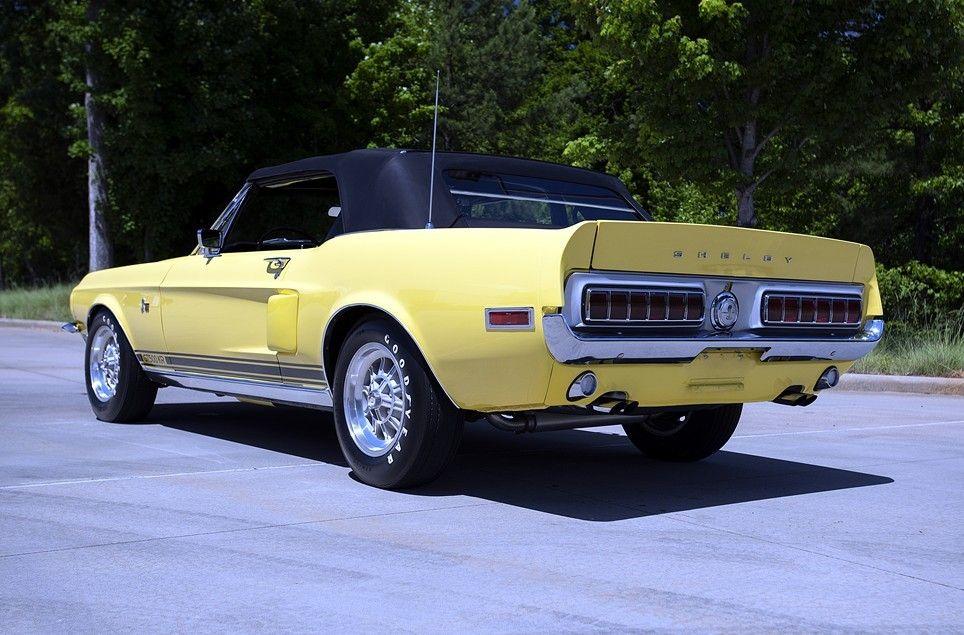 Prova275 1968 Shelby Gt500 Convertible In Meadowlark Yellow Shelby Gt500 Mustang Shelby Ford Mustang Shelby Gt500