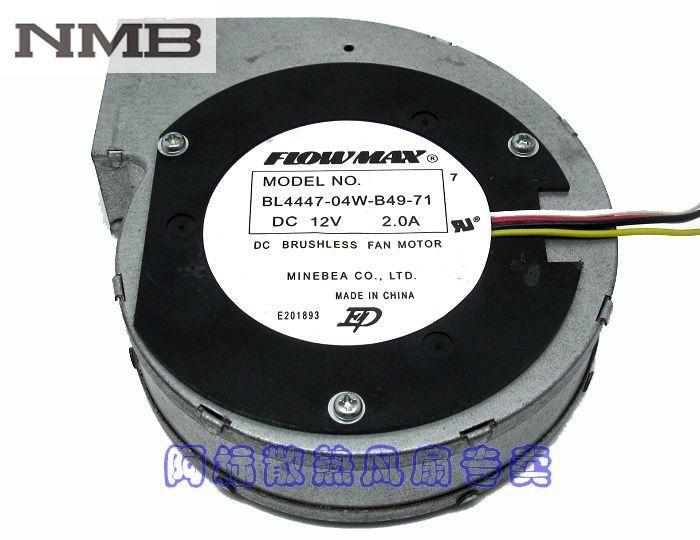 for NMB 11028 12V 2A 11CM Turbine Centrifugal Fan BL4447-04W-B49 4wire 4-Pin