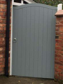 Painted Side Gate Doors Gates And Fencing Ideas Garden Doors