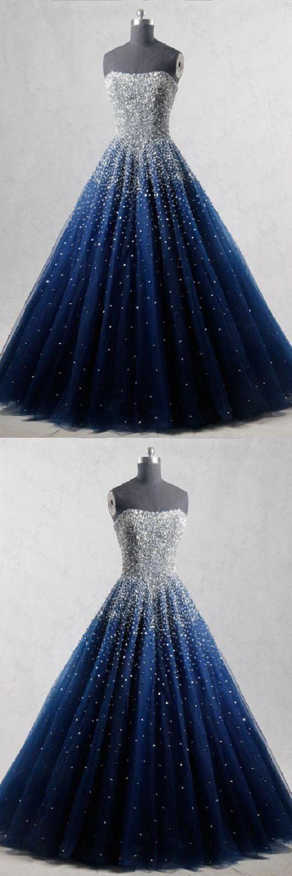 Abendkleider Lange #AbendkleiderLange, blaue Abendkleider