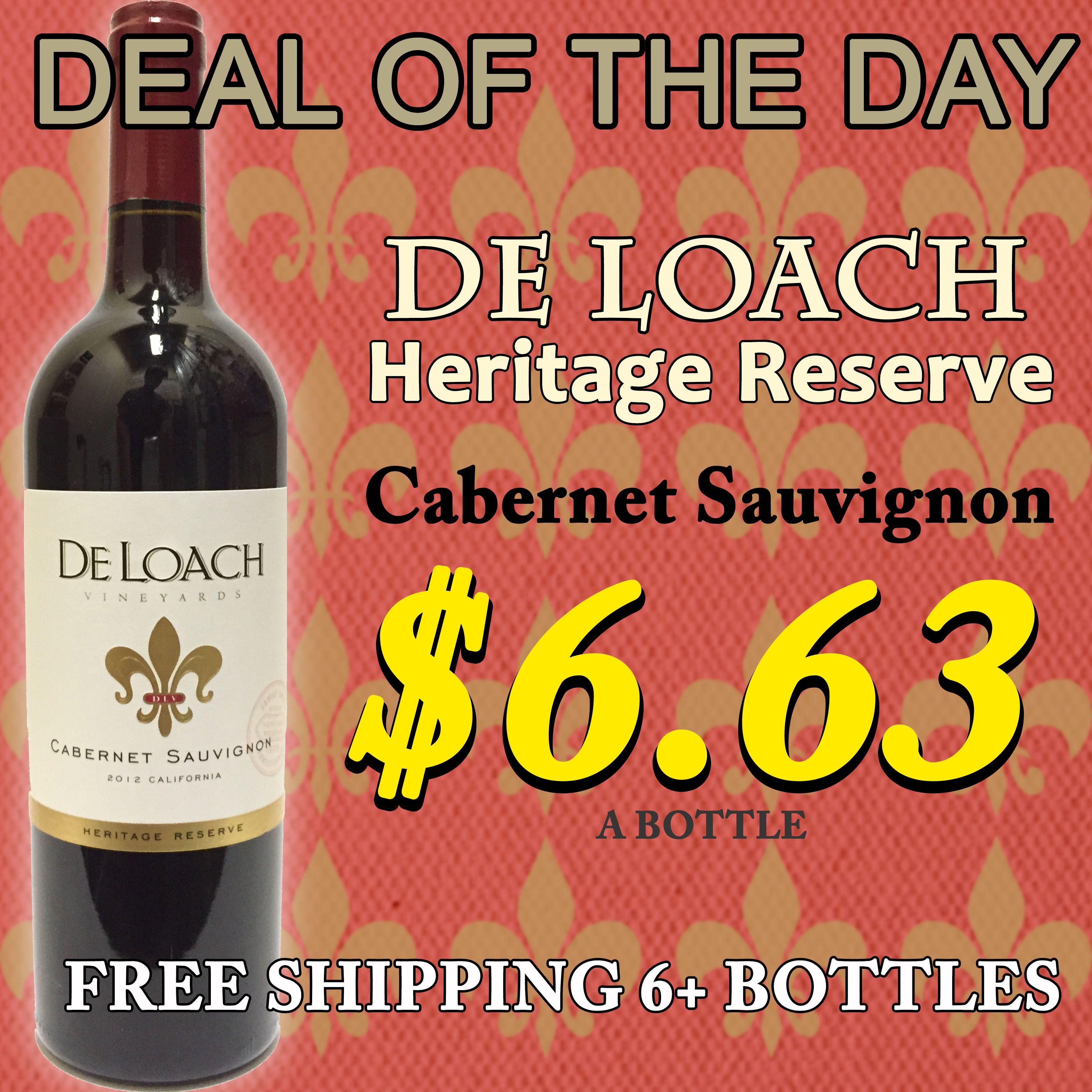 Deloach Heritage Reserve Cabernet Sauvignon Cabernet Sauvignon Cabernet Balanced Wine