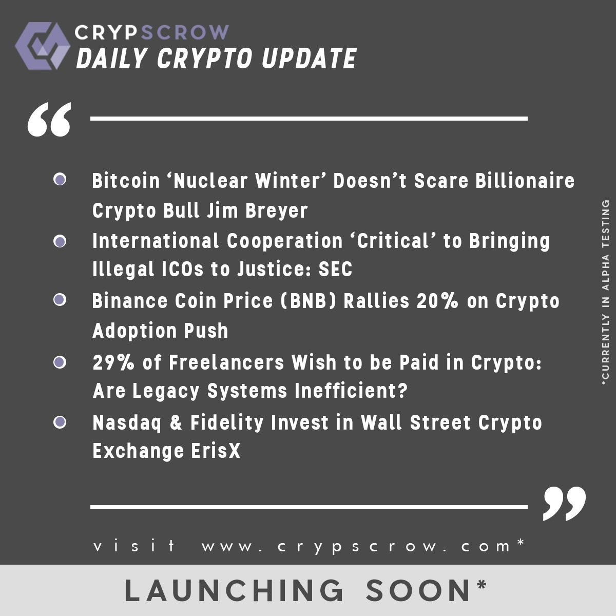 Dailycryptoupdate Cryptonews Crypscrow Bitcoin Nuclearwinter