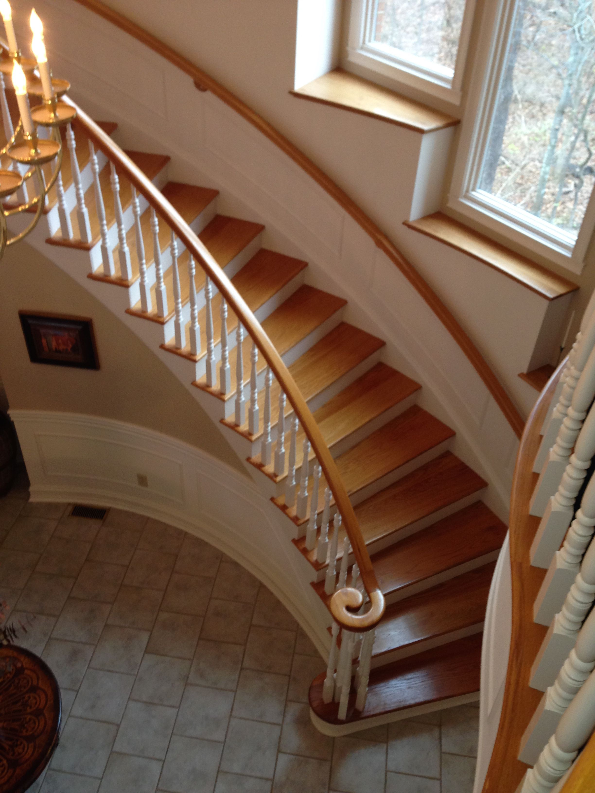 Curved Stair And Handrail System