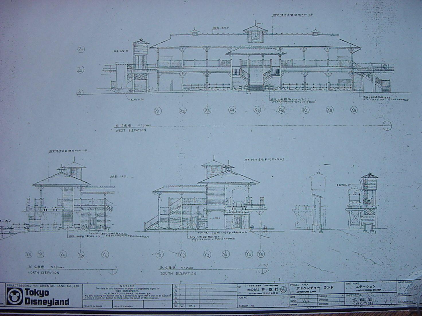 disney train station blueprint   Tokyo Disneyland Blueprints ...
