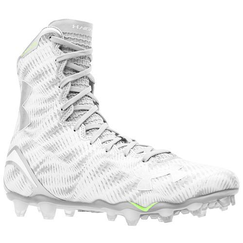 all white under armour highlight football cleats