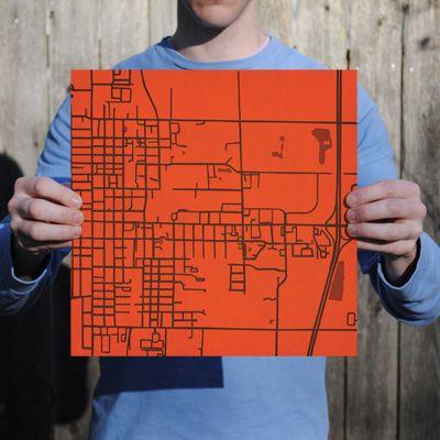 Bowling Green University Campus Map Art City Prints City Prints Map Art Map Art Print