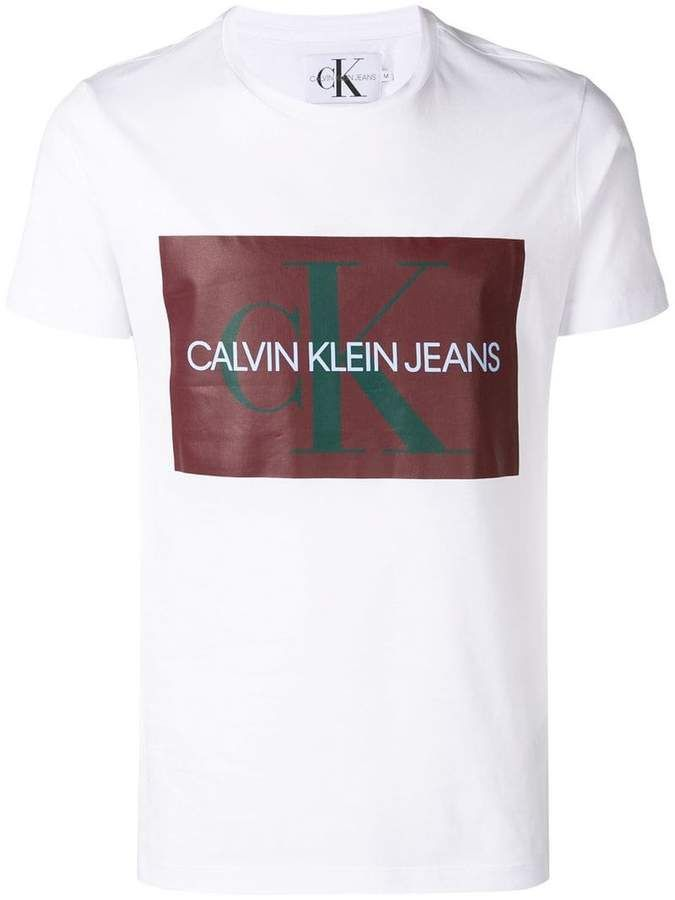 cfe3278ace98 Calvin Klein Jeans logo print T-shirt