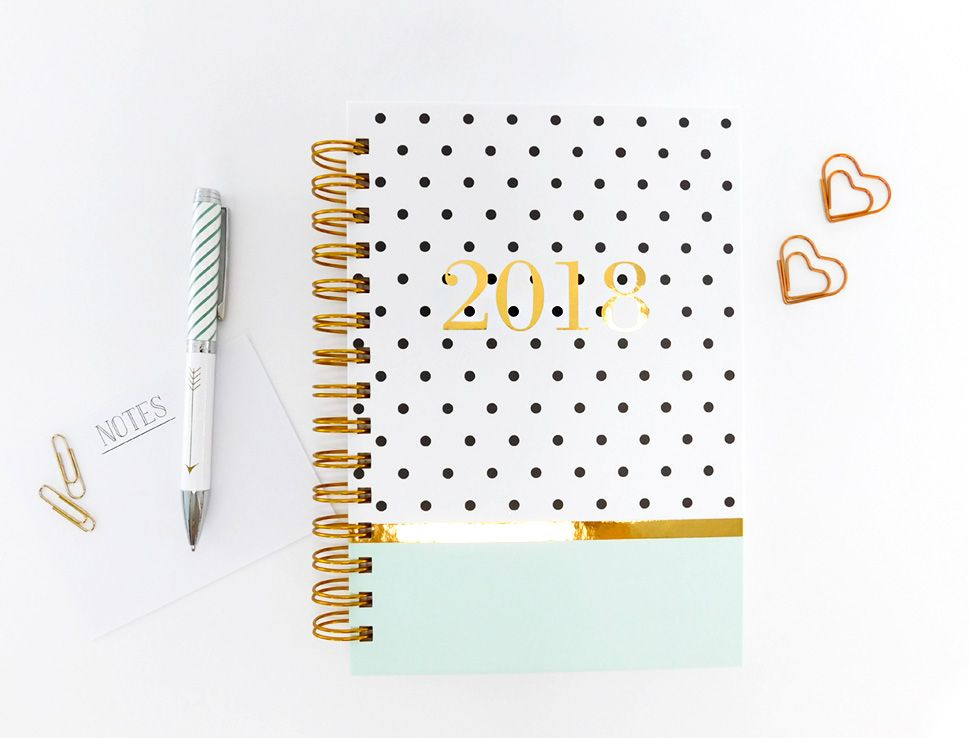 Looking To Add A Hint Of Mint To Your Office Supplies? Our Super Fun Polka  Dots Mint Agenda Includes Fun Holidays And Colorful Monthly View Pages  Allowing ...