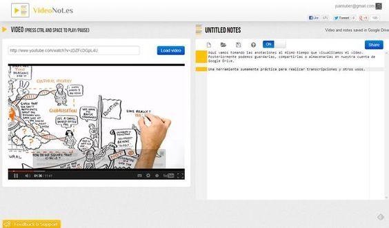 VideoNot, toma notas mientras visualizas un vídeo