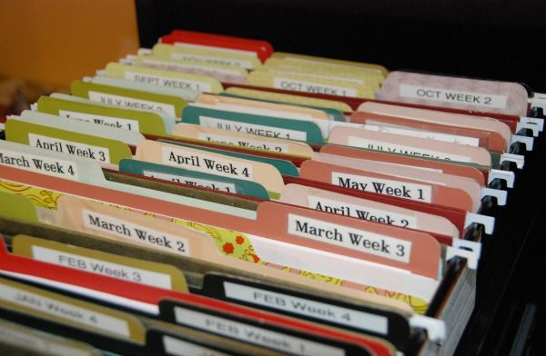 yearly organization at a glance    the file crate system
