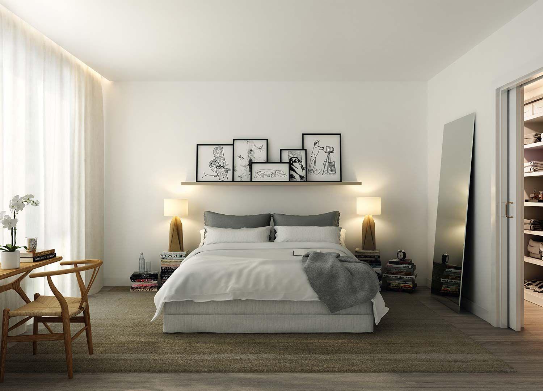 blanc, bois clair, gris, noir | Chambre | Pinterest | Maison ...