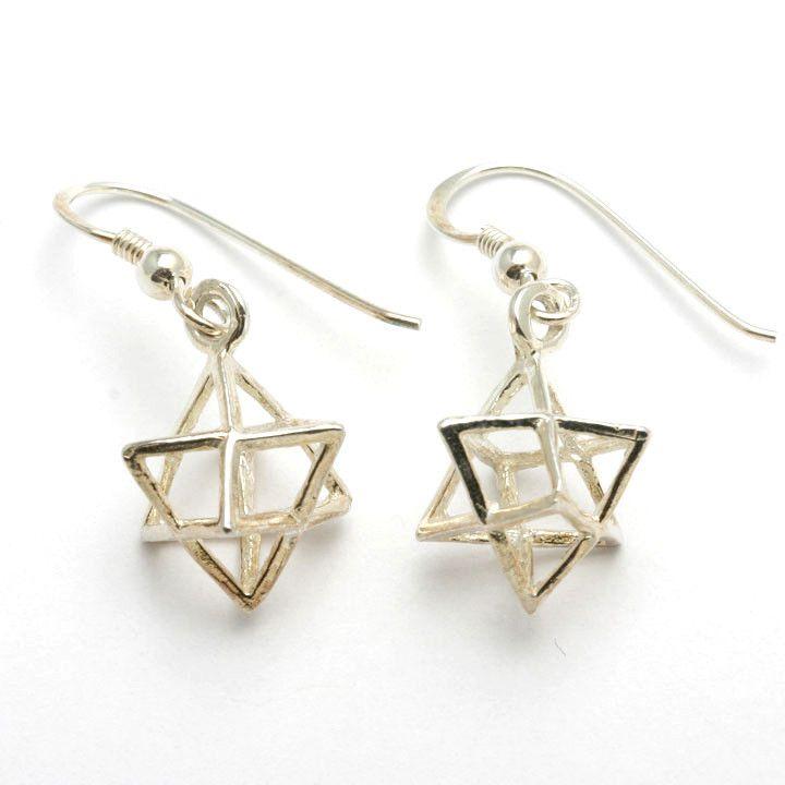 Jewish Star of David Dangle Earrings 925 Sterling Silver