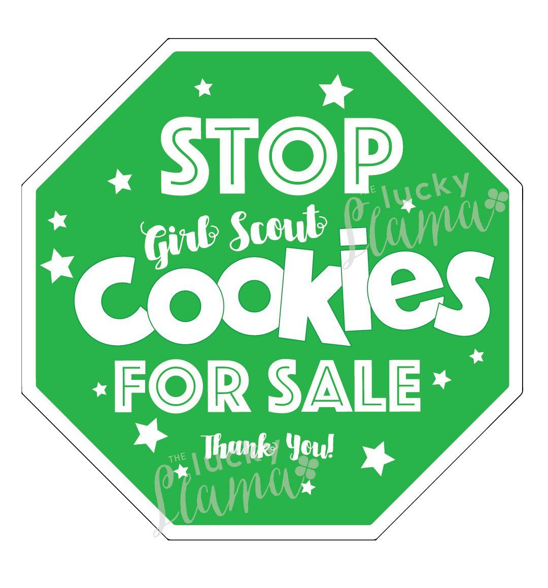 Girl Scout Cookie Stop Sign Printable