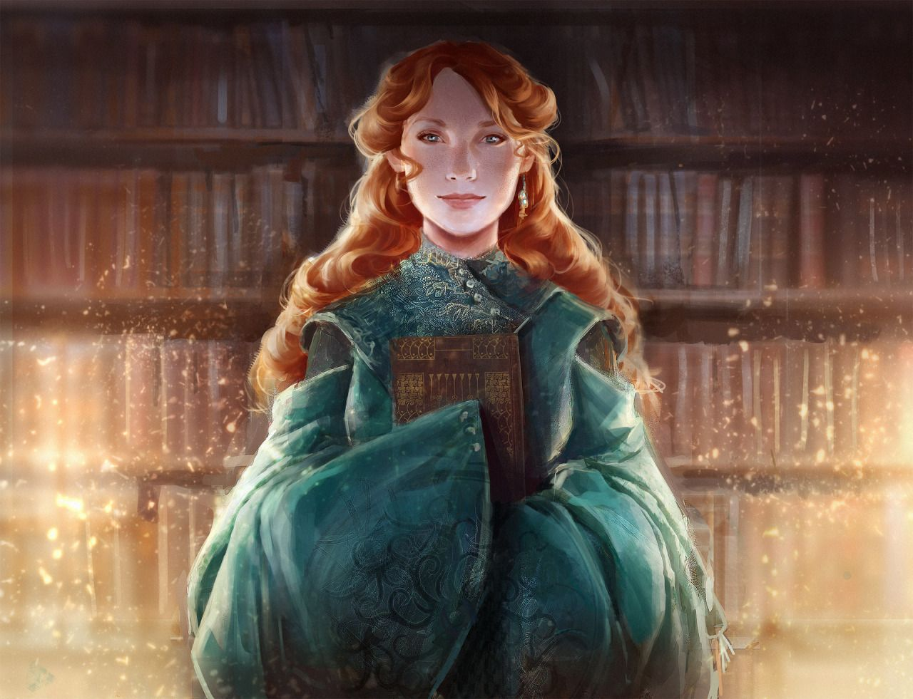 "char-portraits: "" Shallan from 'The Way of Kings' by Brandon Sanderson. art by Alex Allen """