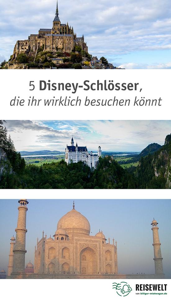 Die Traumhaften Schlosser Aus Den Wundervollen Disney Filmen Sind Leider Nur Gezeichnet Aber Nicht Verzagen Vielen Von Ihnen Hab Disney Schloss Disney Reisen