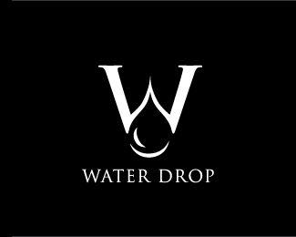 Water Drop - #logo #logonegativespace #logoclever #logofavorite